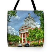 Stately Elegance Morgan County Court House Madison Georgia Art Tote Bag