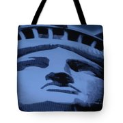 Statue Of Liberty In Cyan Tote Bag