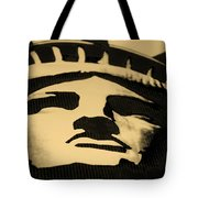 Statue Of Liberty In Dark Sepia Tote Bag