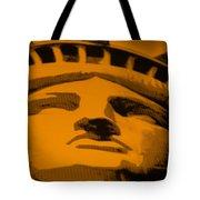 Statue Of Liberty In Orange Tote Bag