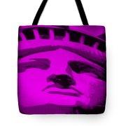 Statue Of Liberty In Purple Tote Bag