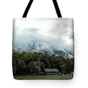 Steaming White Mountains Tote Bag