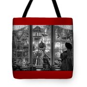 Steampunk Dreams In Black And White Tote Bag