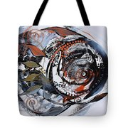 Steampunk Metallic Fish Tote Bag