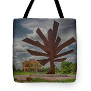 Steel Palm - Peace River Botanical And Sculpture Gardens Tote Bag