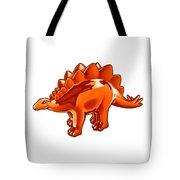 Stegosaurus Cartoon Tote Bag