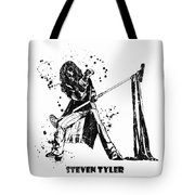 Steven Tyler Microphone Aerosmith Black And White Watercolor 02 Tote Bag