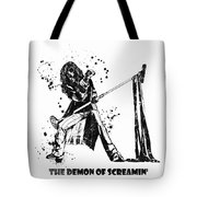 Steven Tyler Microphone Aerosmith Black And White Watercolor 04 Tote Bag
