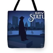 Stevie Ray Vaughan Statue Tote Bag