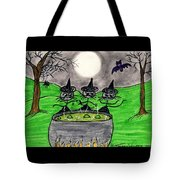 Stick Cats #2 Tote Bag