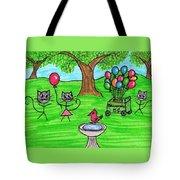 Stick Cats #7 Tote Bag