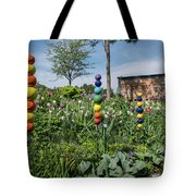 Sticks With Colorful Balls In A Garden Tote Bag