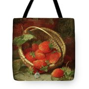 Still Life Of Strawberries With A Cabbage White Butterfly Tote Bag
