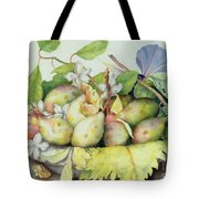 Still Life With Plums, Walnuts And Jasmine Tote Bag