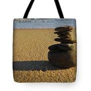 Stone Balance On The Beach Tote Bag