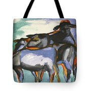 Stone Barn Cows Tote Bag