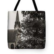 Stone Chapel - Black And White Tote Bag