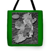 Stone Map Of Ireland Bw Tote Bag