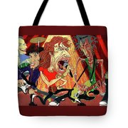 Stones On Stage - The Rolling Stones Tote Bag