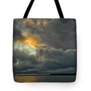 Storm Approaches At Sunset Tote Bag