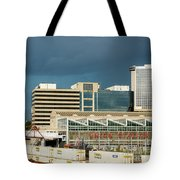Storm Over Union Station Tote Bag