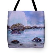 Stormy Shore On Nisyros Greece Tote Bag