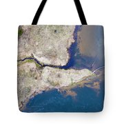 Stream Along Manistee River Aerial Tote Bag