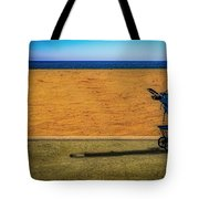 Stroller At The Beach Tote Bag by Paul Wear