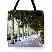 Strolling The Burgos Boulevard Tote Bag by Rick Locke
