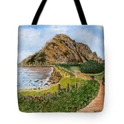 Strolling To The Rock Tote Bag
