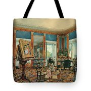 Study In Palais Rasumofsky On Landstrasse In Vienna        Tote Bag