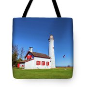 Sturgeon Point Lighthouse 2 Tote Bag by Fran Riley