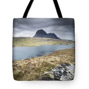 Suilven On A Stormy Day Tote Bag