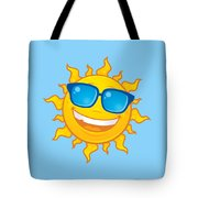 Summer Sun Wearing Sunglasses Tote Bag