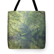 Summer Time River And Trees Tote Bag