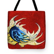 Sun And Moon On Red 2 Tote Bag