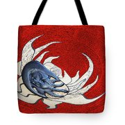 Sun And Moon On Red Tote Bag