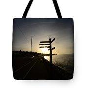 Sun Rise Sign Tote Bag