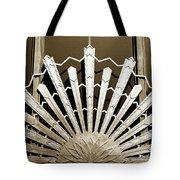 Sunburst Art Deco Sepia Tote Bag