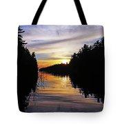 Sundown On The River Tote Bag