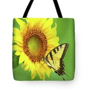 Sunflower And Swallowtail Tote Bag
