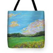 sunflower valley- Sunflower Art-Impressionism painting Tote Bag