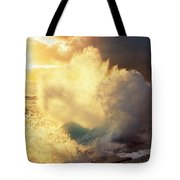 Sunlit Wave - Hawaii Tote Bag by Charmian Vistaunet