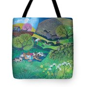 Sunny Suburban Sunday Tote Bag