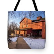 Sunny Winter Day At Bonneyville Mill Tote Bag