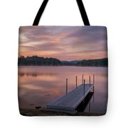 Sunrise At Locke Lake Tote Bag by Sharon Seaward