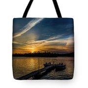 Sunrise Dog Lake Tote Bag