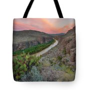 Sunrise In Big Bend Along The Hot Springs Trail 1 Tote Bag