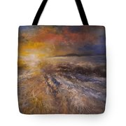 Sunrise Over The Ocean Tote Bag