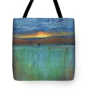 Sunset - Abstract Landscape Painting Tote Bag